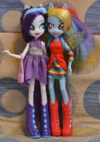 EQG Rarity and Rainbow Dash by Antych