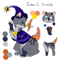 Witch Dragon kitty - Custom Comm by Cheezeo