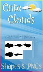 Cute Cloud  PS Shapes and PNGs by SweetSoulSister