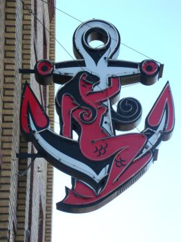 The Anchor Signage by Ablebaker