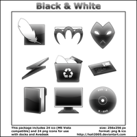Black and White Icons by kali2005