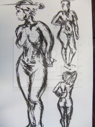 life drawing sketch by rosalindharrison