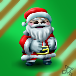 Santa Toggle by DiamondDiancie10