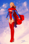 Commission: Supergirl Custom Pinup by Durandus