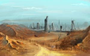 Post apocalyptic city by faustissima