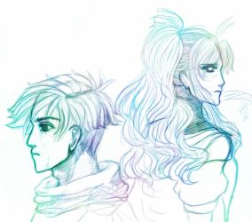Isaac and Mia from Golden Sun by lunahaya