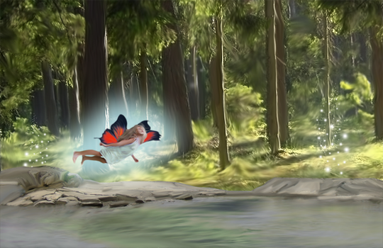 Fairy in the Forest by Inkovic