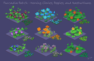 Pixel Flowers for Furcadia by zarry