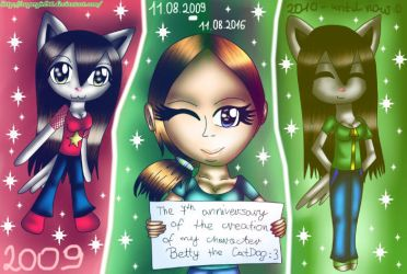 ...:7th anniversary of the creation Betty:... by supergirl96