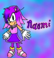 Naomi the Hedgehog... colored. by papersak