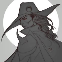 Vampire Hunter D - Drawing by Xelandra