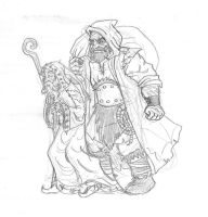 Saint Nicolas and Pere Fouettard ROTG style 2 by zoccu