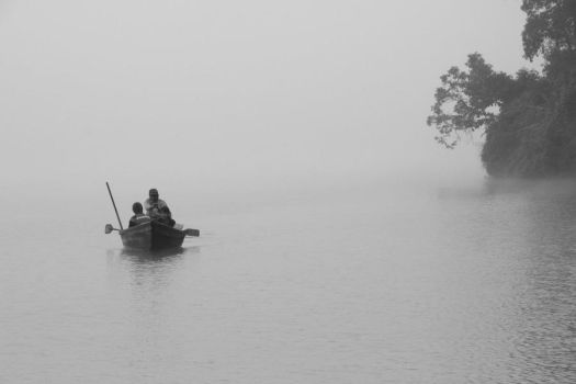 NEPAL - that foggy morning in the lake by astitwo