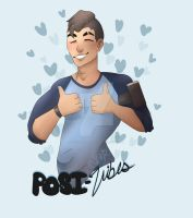 Posi-vibes bro! // Dream Daddy Fanart by TwistedSmileHD