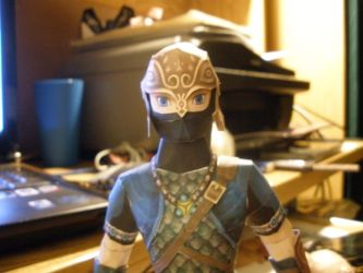 Zora Armor Link - Papercraft by InuIzayoi