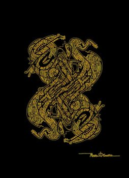Twisted gold candy by Labyrinther