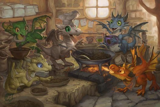 The Coffee Roasters by The-SixthLeafClover
