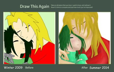 Draw this agian challenge: In His Arms by JouYasha
