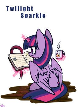 Twilight Sparkle read a book by Amy-Gamy