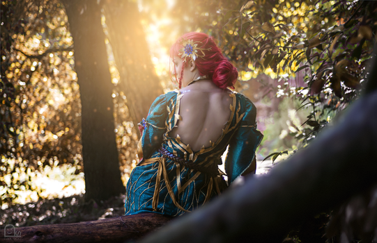 Triss DLC alternative outfit cosplay - The Witcher by HeritageOfTheWolf
