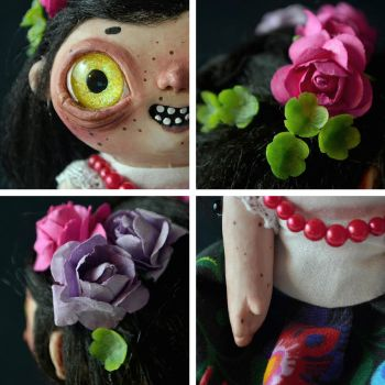 details of THE GODLING doll by falauke