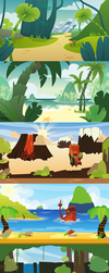 Various Vector Backgrounds by beeberbar
