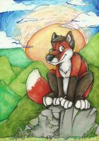 Werefox in nature - commission by Grion