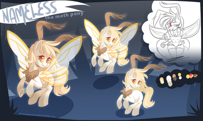 (COMM) Moth Pony Character Design by zombie