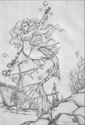 Deities of Anralnos-Lyh - Goddess of the Sea by Amaethil