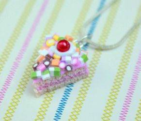 'Dolly Mix' cake slice necklace by citruscouture