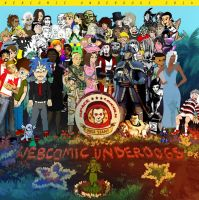 4th of July Group Photo Extravaganza! by WebcomicUnderdogs