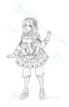 Steampunk Alice Lines by NoFlutter
