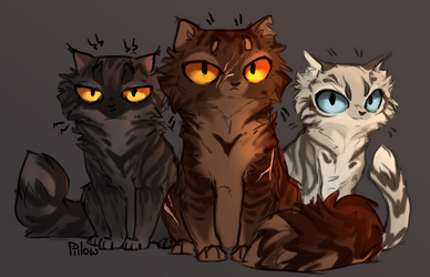Darkstripe, Tigerclaw and Longtail by GrayPillow