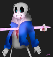 [Glitchtale]Sans's Death by WaterFox-Studios