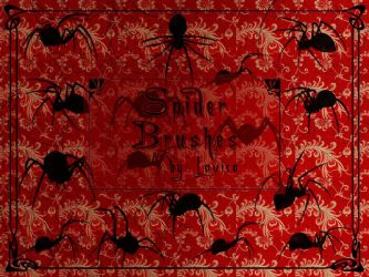Spider Brushes by Lavica-Photoshop