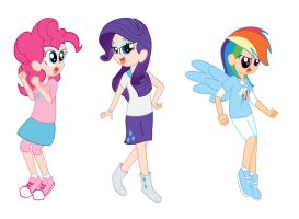 Pinkie Pie, Rarity, and Rainbow Dash by candycorporation