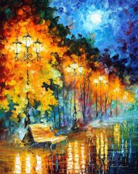 Blue Moon 3 by Leonid Afremov by Leonidafremov