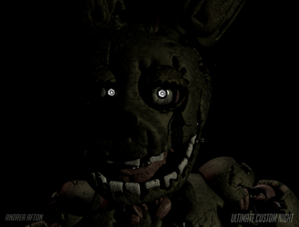 UCN Springtrap Mugshot Pose (And light test) by AndreaAfton