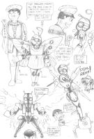 Sketch of the day - 10 Morpho and 'me' 2 by MidnightDJ-SK