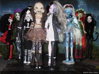 monster high custom daughters of dc villains by Rach-Hells-Dollhaus