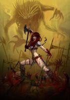 Queen on blood (Red Sonja) by Raro666