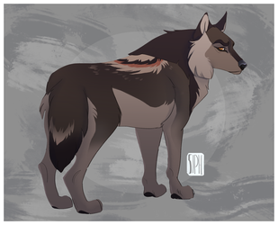 Misty's Wolf - Commission by Siphiri