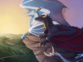 Glace and Arus by FellFallow