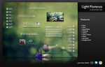 Light Fiorenza Rainmeter by hpluslabels