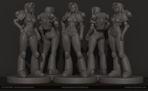 Spacemarine miniature by Texelion