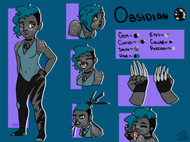 Reference Sheet: Obsidian(2016) by DuchessLummina