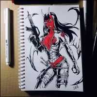 Sketchbook - Baroness Purgatori by Candra
