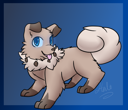 Poketober - Rockruff - Day 8 by halothekittycat