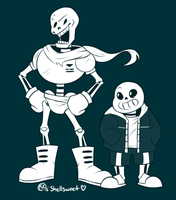 THE GREAT PAPYRUS + Sans by Shellsweet