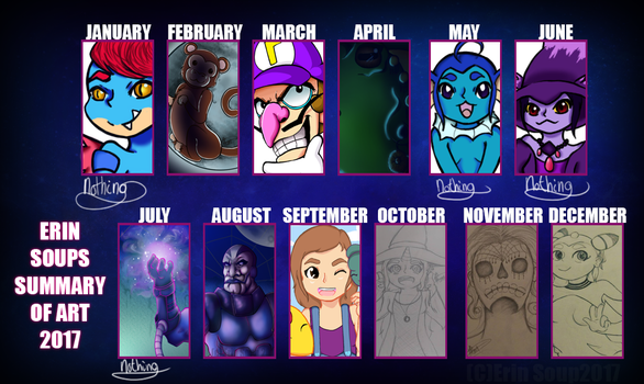 Summary of art 2016 by ErinSoup